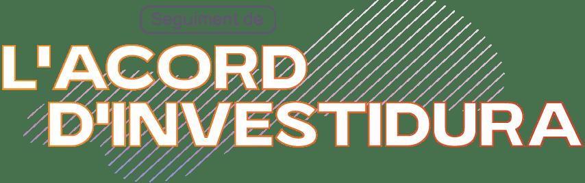 Seguiment Acord d'Investidura